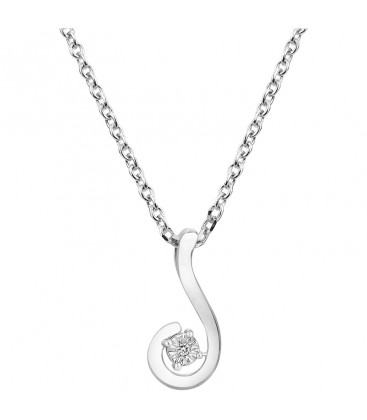 Collier Argent et Diamant ARG-CO00073D