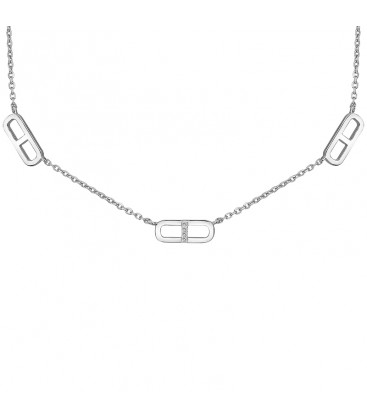 Collier Argent et Diamant ARG-CO00110-D