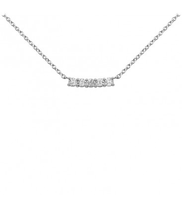 Collier Argent et Diamant ARG-CO00135-D