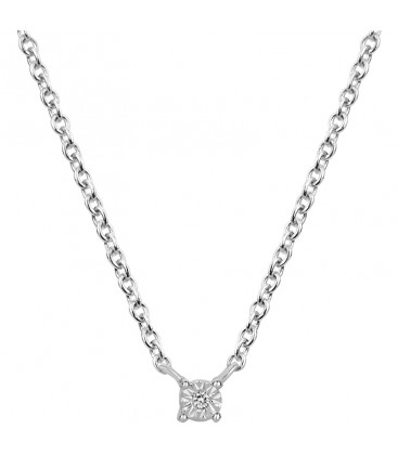 Collier Argent et Diamant ARG-CO00137-D
