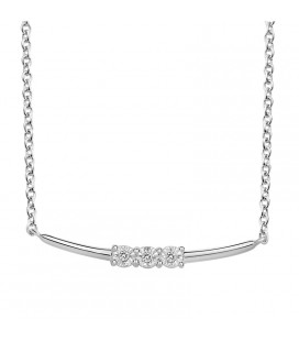 Collier Argent et Diamant ARG-CO00158-D
