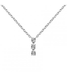 Collier Argent et Diamant ARG-CO00162-D