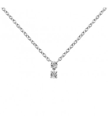 Collier Argent et Diamant ARG-CO00163-D
