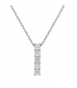 Collier Argent et Diamant ARG-CO00195-D