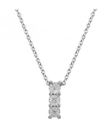Collier Argent et Diamant ARG-CO00196-D