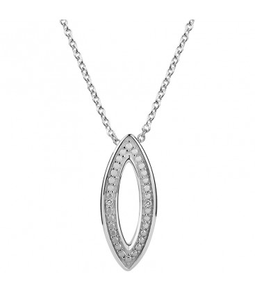Collier Argent et Diamant ARG-CO00223-D