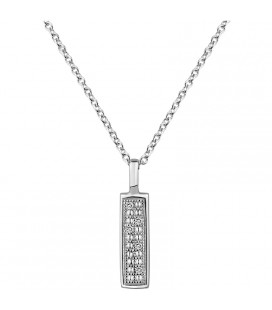 Collier Argent 925 et Diamant ARG-CO00227-D