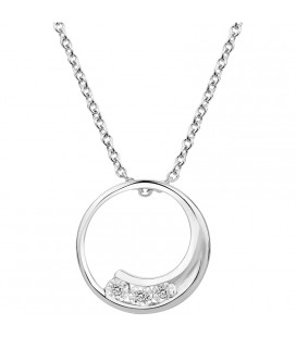 Collier cercle Argent et Diamant ARG-CO00235-D