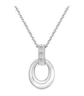 Collier Argent et Diamant ARG-CO00236-D