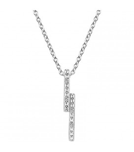 Collier Argent et Diamant ARG-CO00238-D