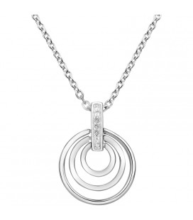 Collier Cercle Argent et Diamant ARG-CO00240-D
