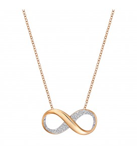 Collier infini Swarovski Exist Small Rose Gold - 5188401