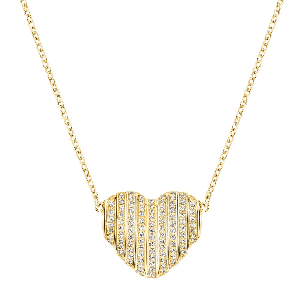 collier coeur swarovski pendentif explore gold 5190269. Black Bedroom Furniture Sets. Home Design Ideas