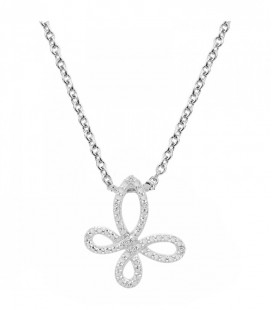 Collier Argent 925 et Diamant ARG-CO00241-D