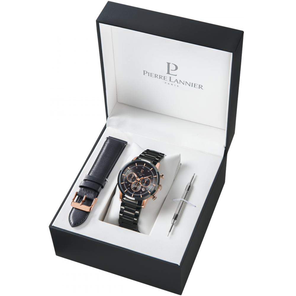 coffret montre et bracelet pierre lannier 374b433. Black Bedroom Furniture Sets. Home Design Ideas