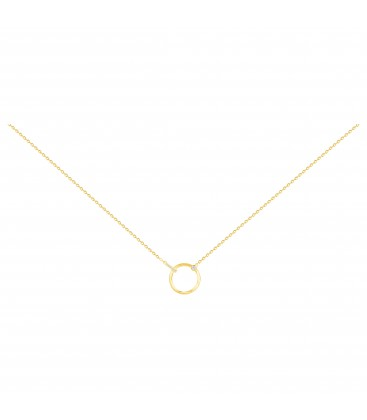Collier Plaqué Or Jaune 750/000 Diamants 0,035cts - La Garçonne 26700003