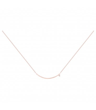 Collier Optimiste Plaqué Or Rose 750/000 Diamant - La Garçonne 26700006R