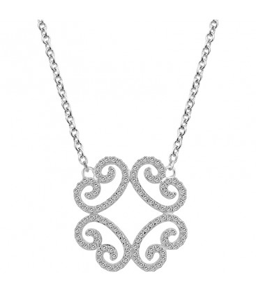 Collier Arabesque Argent et Zirconia ARG-CO00097